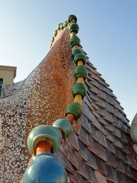 Casa Batlló was designed by Antoni Gaudí & built in Barcelona