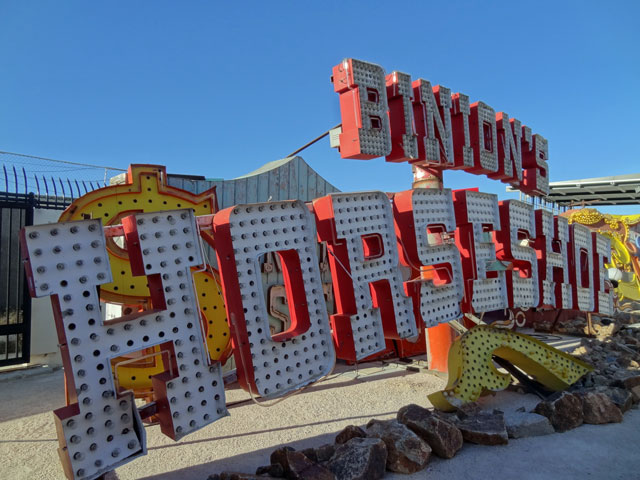 Binions Horseshoe sign in Las Vegas