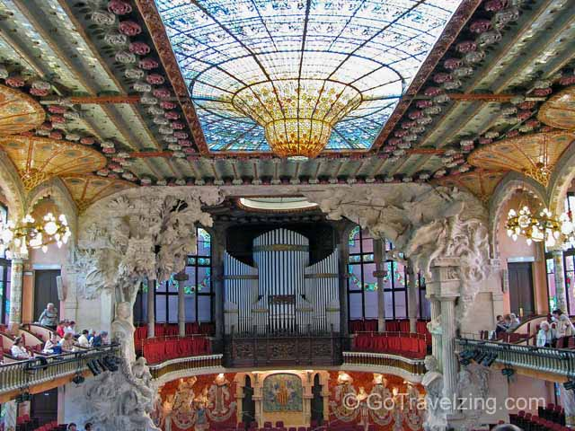 Concert Hall of the Palaue De La Musica