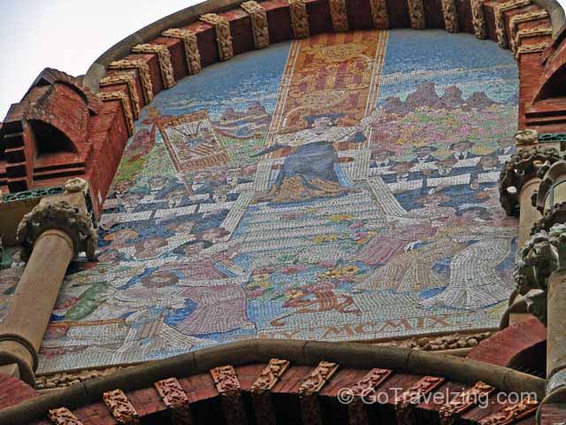 Palau De La Musica Exterior Mosaic