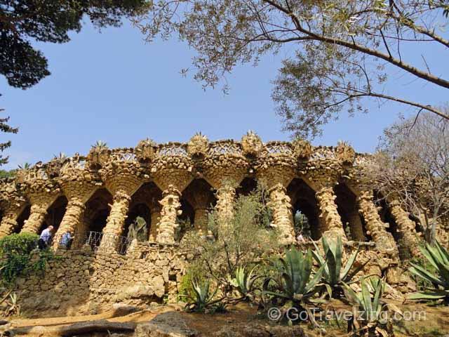 Park Guell Rock Columns