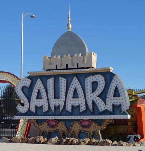 Sahara Hotel Sign Las Vegas