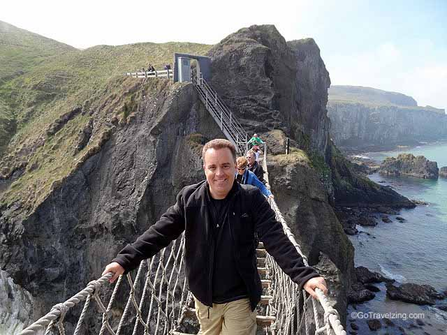 Jeff on The Carrick a Rede Rope Bridge
