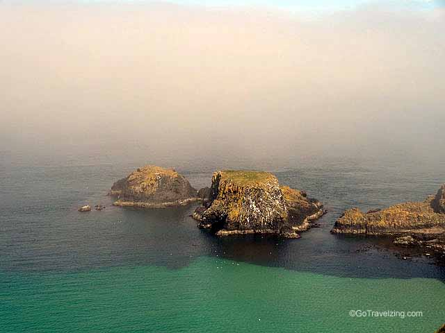 Islands Near The Carrick a Rede Rope Bridge