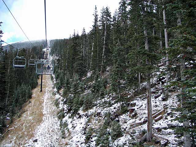 Ski Lift to the top of the San Francisco Peaks