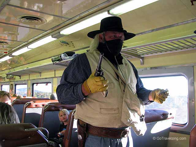 Train Robber on the Grand Canyon Railway