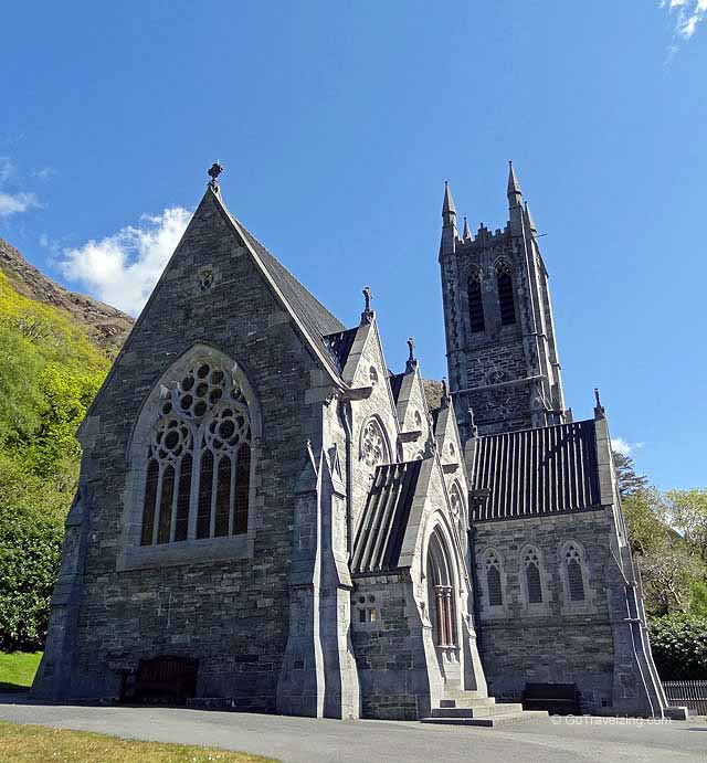 The Gothic Church at the Kylemore Abbey