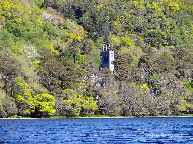 Kylemore Abbey Lake and Church