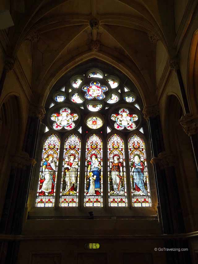 Stained Glass Windows at the Kylemore Abbey
