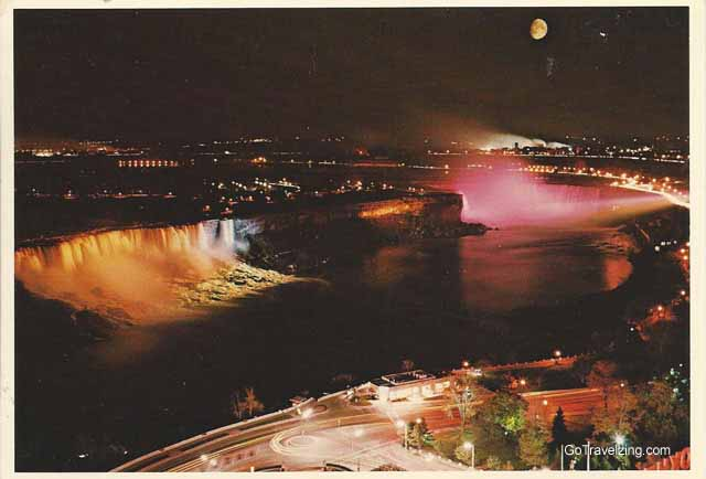 Niagara Falls at Night Postcard