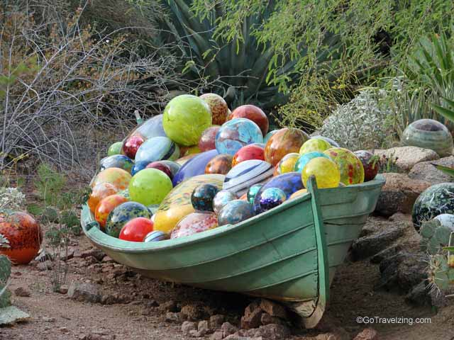 Glass Ball Boat Sculpture
