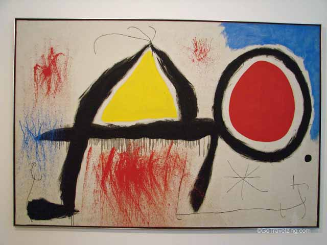 Figure in Front of Sun Painting by Joan Miro