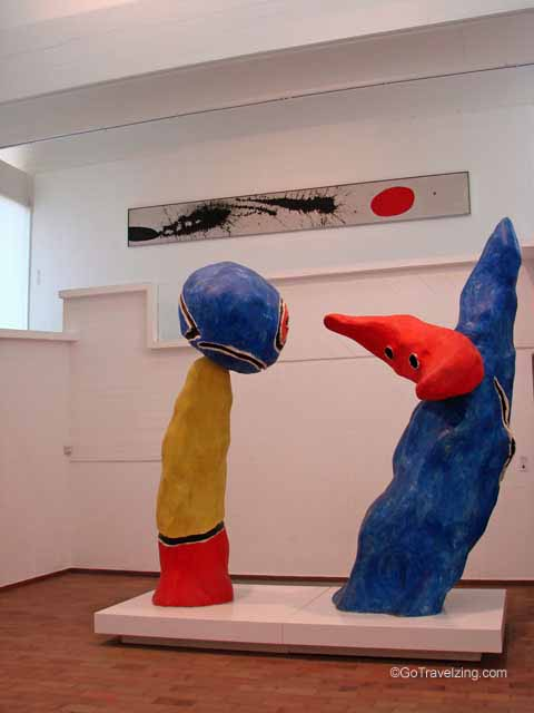Lovers Playing with Almond Sculpture by Joan Miro