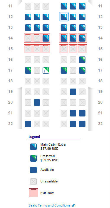 American Airlines Preferred Seat Chart 2