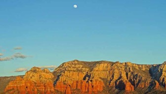 Moonrise in Sedona Arizona