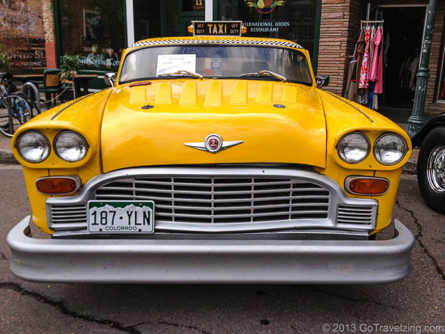 Yellow Cab at the Route 66 Car Show