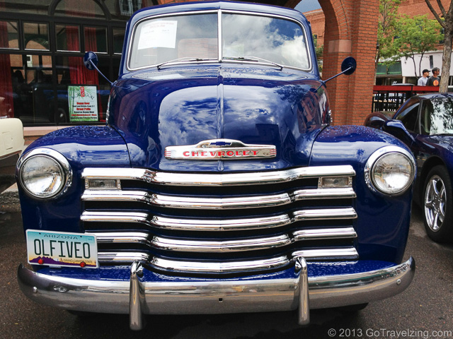 Blue Chevrolet Custom Truck