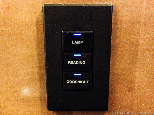 Goodnight button to turn off all lights and TV in the hotel