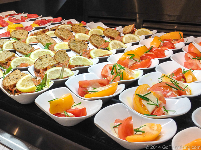 Tomato & Salmon Salads at the Aria Buffet