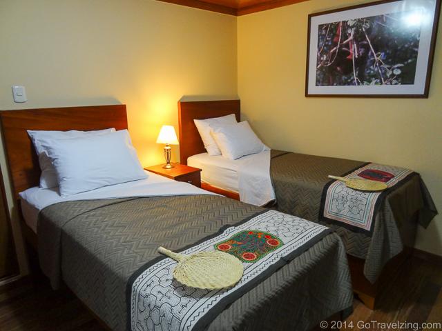 Beds in the La Estrella Amazonica Cabin