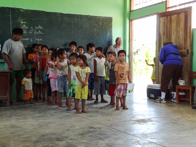 Amazon village school children