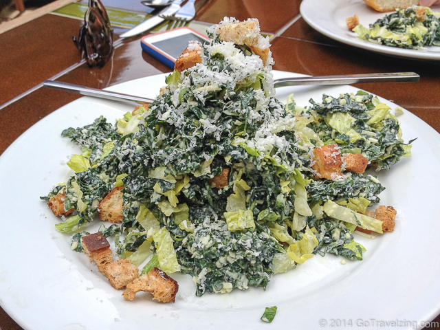 Kale Caesar Salad at the Big Sur Roadhouse
