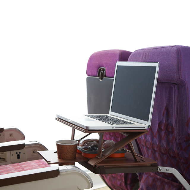 Aero Tray - Portable desk for use on airplanes