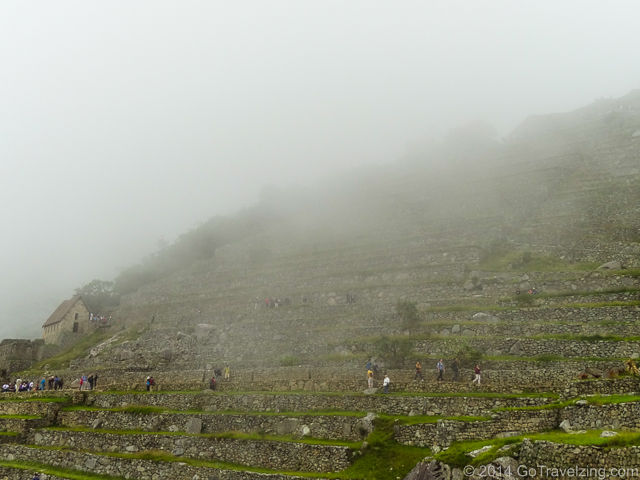 Clouds rolling into Machu Picchu