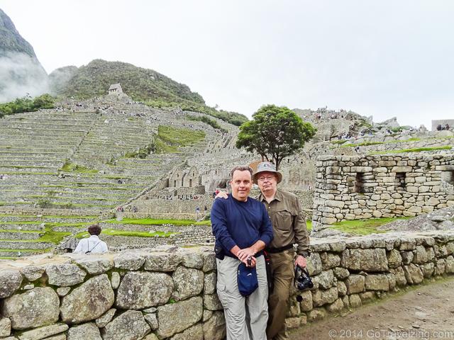 Dad & I Exploring Machu Picchu