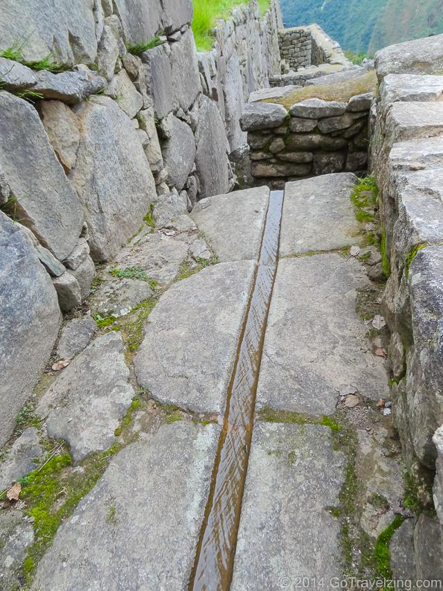 Water Drainage Channel at Macchu Picchu