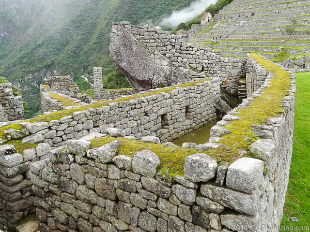 The ruins of a house in Machu Picchu
