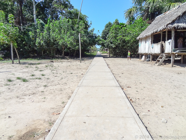 Sidewalk in a Amazon Village