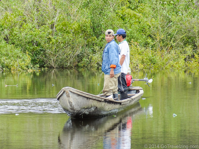 Peruvians fishing on the Amazon River