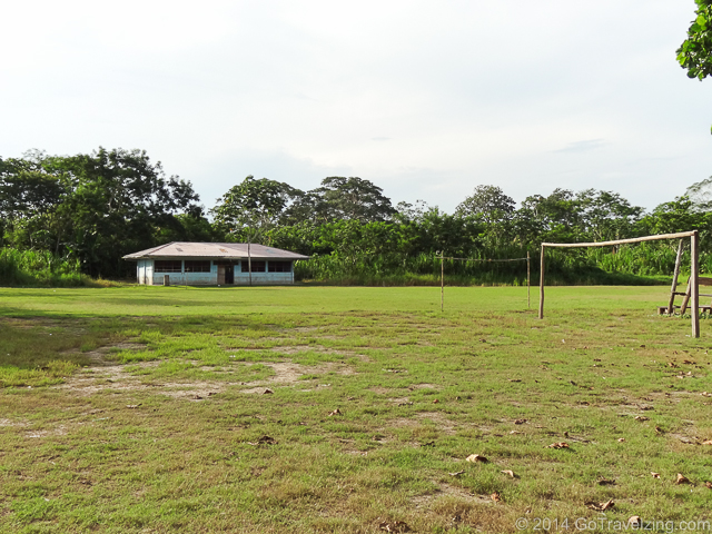 Football field in a Peruvian Amazon Village