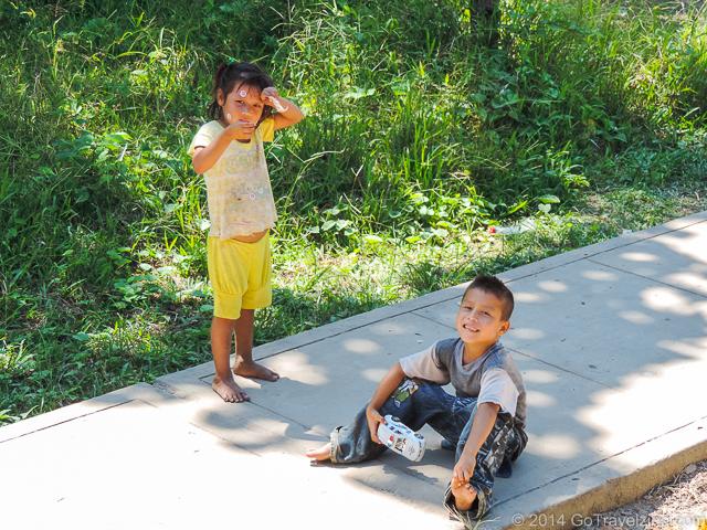 Children playing in an Amazon village