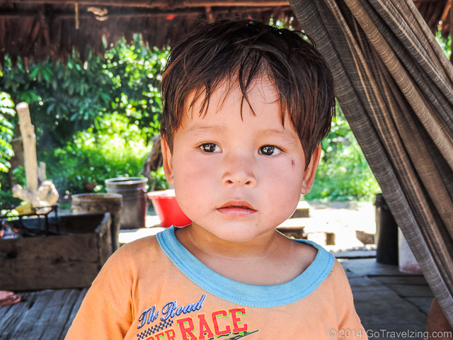 Child in a Amazon village