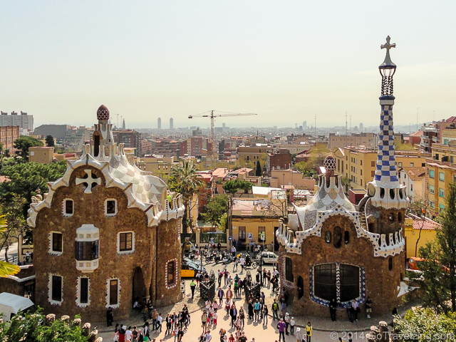 Main entrance of Park Guell