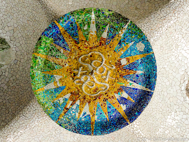 Mosaic in Park Guell