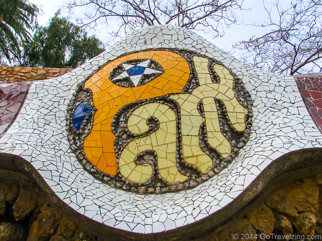 Park Guell Entrance Sign