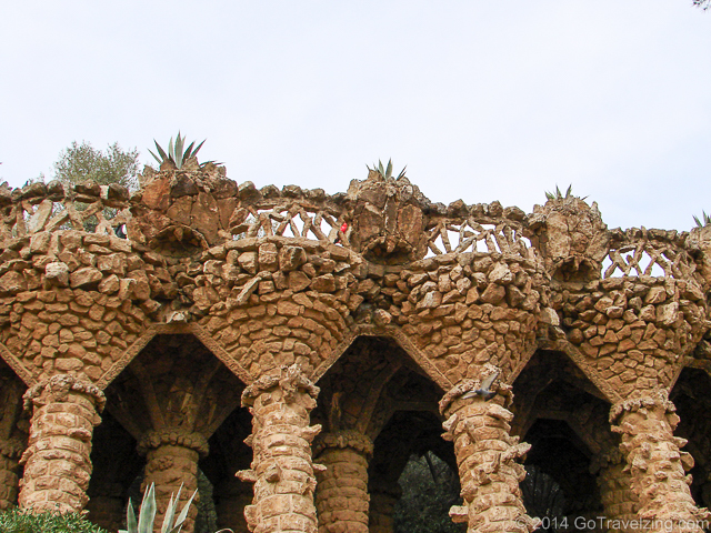 Pathway on top of columns in Park Guell