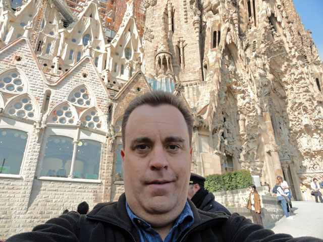Selfie at Sagrada Familia Barcelona