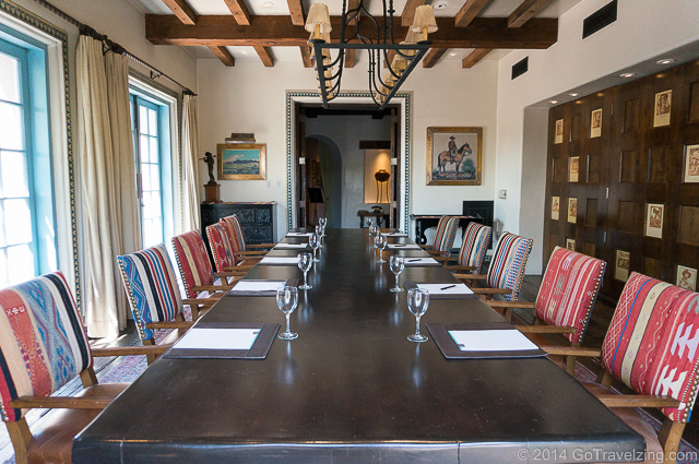The Boardroom is a private meeting room at the Hermosa Inn