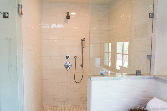Large Walk In Shower at The Hermosa Inn