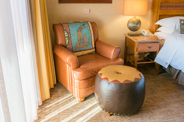 Comfortable chair in the room of the Sheraton Wild Horse Pass