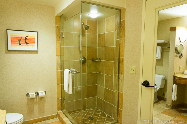 Shower at the Sheraton Wild Horse Pass