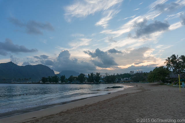 Kalapaki Beach at Sunset